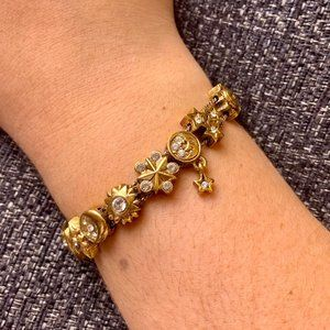 Jewelry - Vintage Sun Moon Planets and Star Theme Bracelet